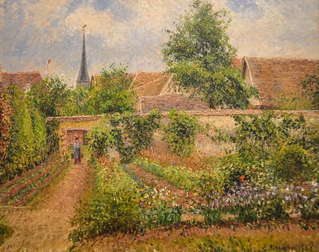 Camille Pissarro Vegetable Garden Eragny Overcast Morning 1901 At The Museum Of Art