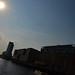 Golden Light Over the Elbe in Hamburg
