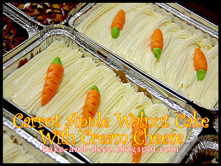 Carrot Apple Walnut Cake with Cream Cheese