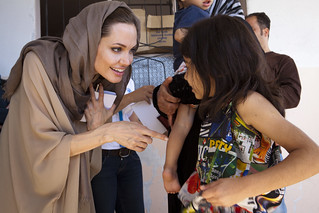 UNHCR News Story: Syrian refugees in Lebanon tell UNHCR's Guterres and Angelina Jolie of escape and challenges