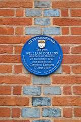 Photo of William Collins blue plaque