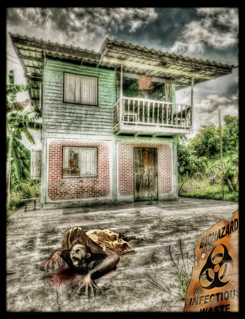 Some fun with HDR and the Garden Zombie. by SJC