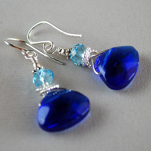 Blue Cinderella Earrings