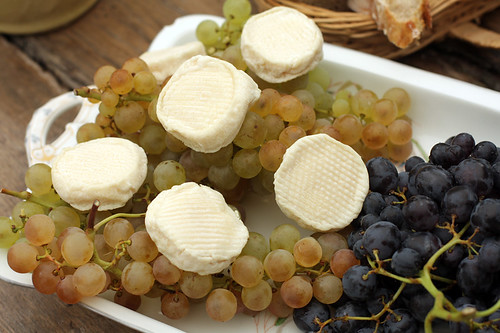 grapes and cheese for dessert