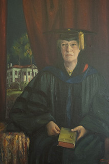 Portrait of Professor Phebe Estelle Spalding painted in 1928, a year after her retirement