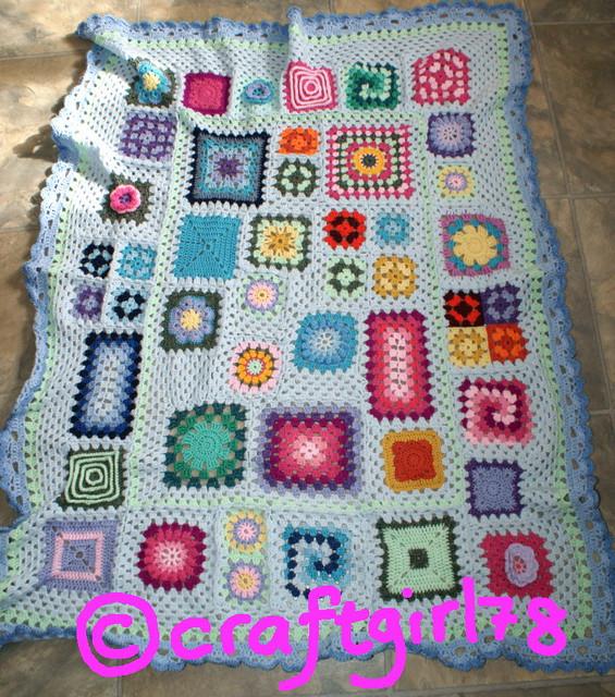 Free Crochet Pattern For Granny Square Sampler : Granny Square Sampler Afghan CAL Flickr - Photo Sharing!