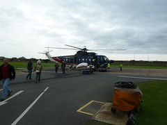 Back in Penzance - Looking back to the Helicopter