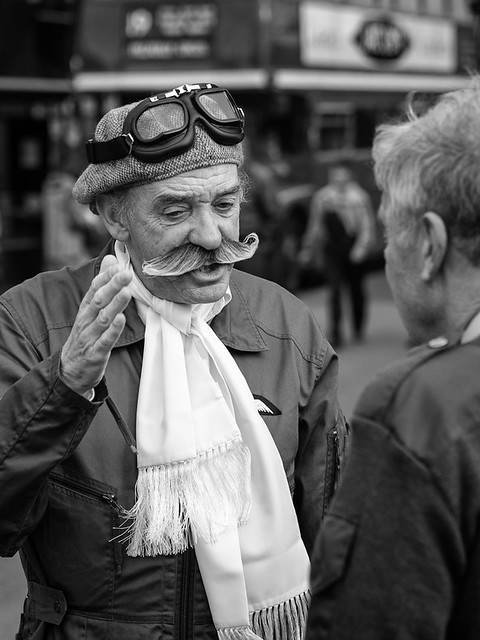 The pilot and the moustache