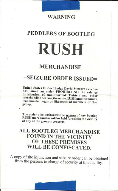 09/24/12 Rush @ Target Center, Minneapolis, MN (Rush Mech. Siezure Order Notice)