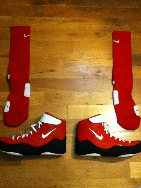 Custom Nike Inflict Wrestling Shoes