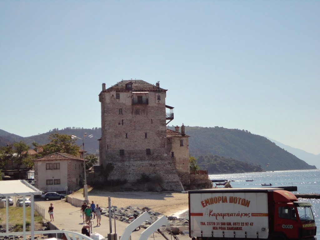 tower in Ouranoupoli, Greece