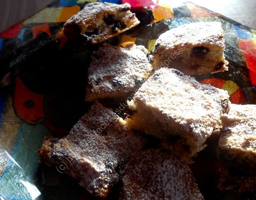 Carrés à la banane et au chocolat / Banana and Chocolate Squares