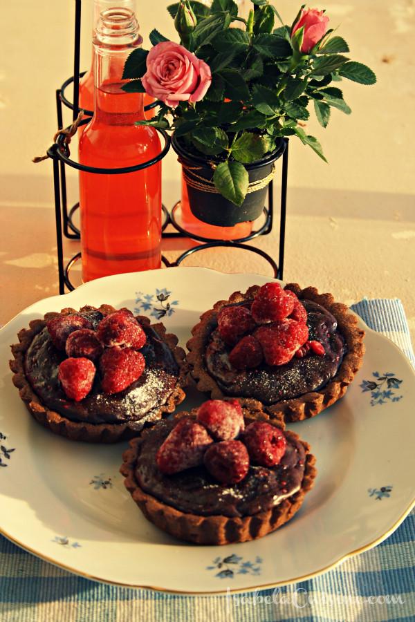 Chocolate Raspberry Tarts