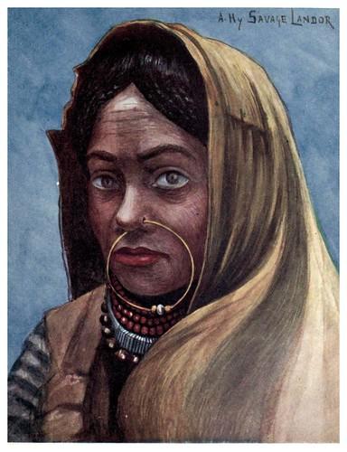 010-Mujer nepalesa-Tibet & Nepal-1905-A. H. Savage-Landor