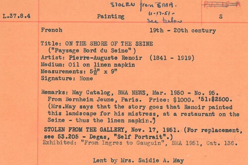 Renoir catalog record
