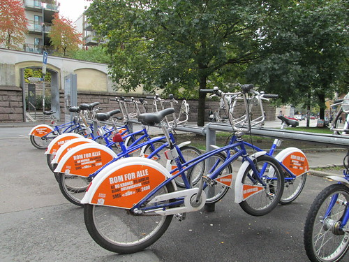 Punto de alquiler de bicicletas, Oslo