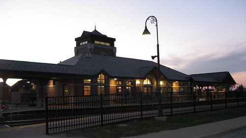 Twilight at the Glen of North Glenview Metra commuter rail station.  Glenview Illinois.  September 2012. by Eddie from Chicago