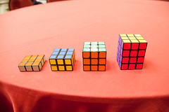 rubik's cube, red, pink, mechanical puzzle, toy,