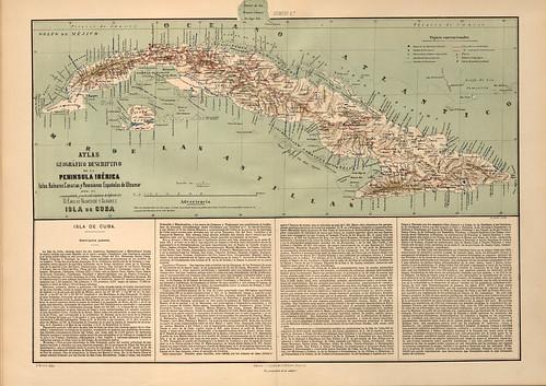 017-Isla de Cuba-Atlas geográfico descriptivo de la Península Ibérica-Emilio Valverde-1880