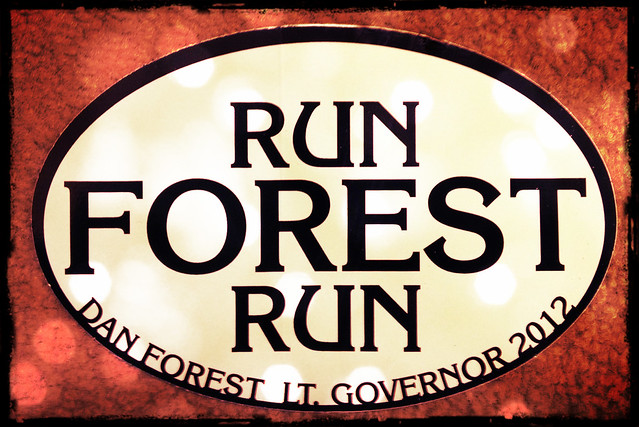 Run Forest Run stickers are in