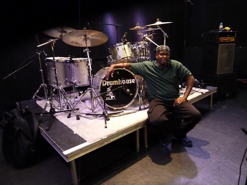G. Calvin Weston, soundcheck - Porgy & Bess 10/1/12