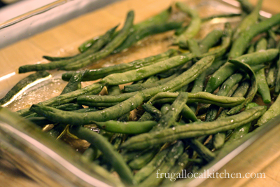 Roasted Salted Green Beans, one of my favorite snacks and so tasty with fresh green beans
