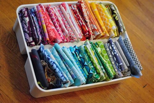Organizing Fabric Scraps