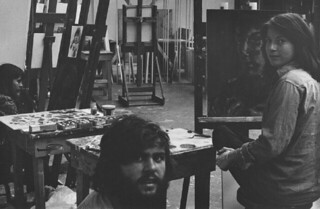 Painting Class in Rembrandt Hall in 1980