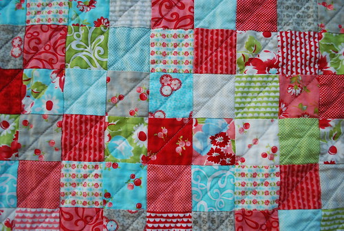 Ruby Quilt - Quilting