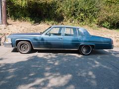 performance car(0.0), automobile(1.0), automotive exterior(1.0), vehicle(1.0), cadillac fleetwood brougham(1.0), cadillac brougham(1.0), full-size car(1.0), sedan(1.0), land vehicle(1.0), luxury vehicle(1.0),