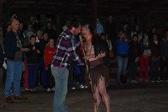 Jacob Wheeler does the Hongi with a Maori warrior