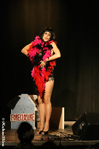 Burlesque performer Sass E Delure - Austin Texas