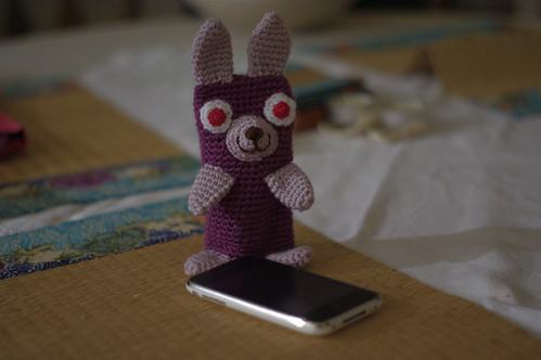 amigurumi #70 bunny iphone _standing