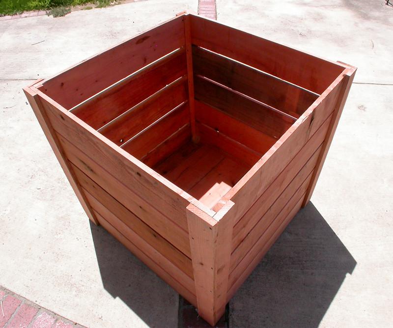 Large Redwood Planter Box For Tomatoes: Garden Craftsman. Compost Bins