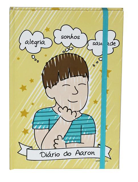 Caderno do Aaron - Maria Papel   Carinhas Personalizadas