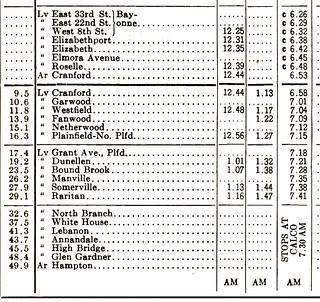 CRRNJ Schedule