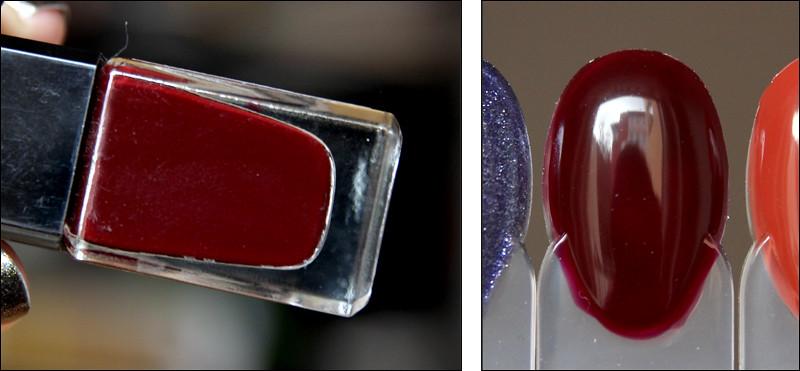 Cherry chocolate swatch