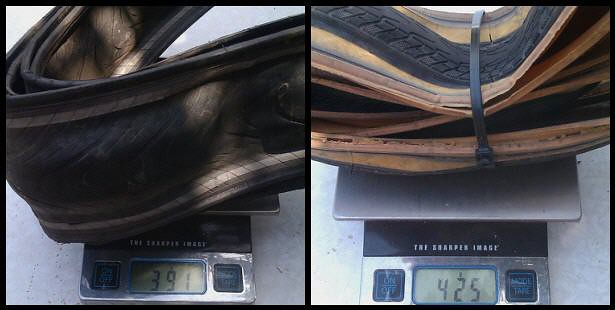 tire weight comparo
