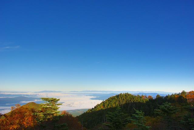 権現岳下から見る北アルプス山塊