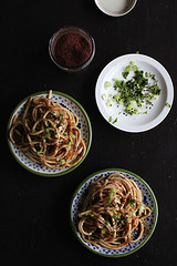 cold soba with tamarind sauce