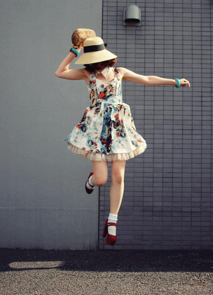 floral heart dress