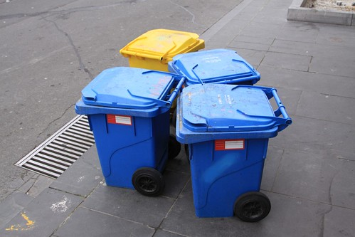 Mini-sized wheelie bins