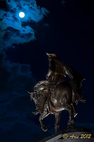 Sam Houston Under Blue Moon