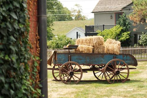 Hay wagon.