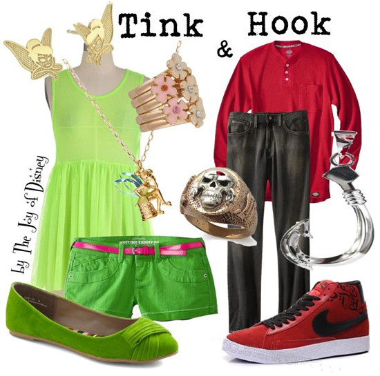 Hook & Tinkerbell (Peter Pan)
