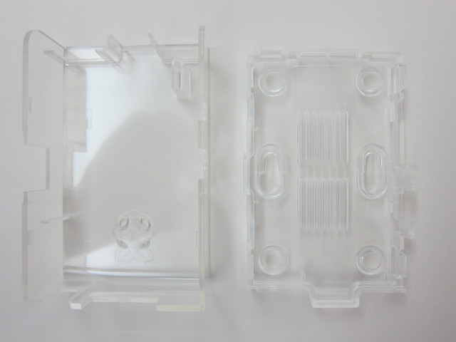 Raspberry Pi - Clear Case - Open