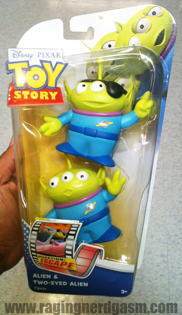 Disney's Pixar Toy Story action figuresalien and Two Eyed Alien 004
