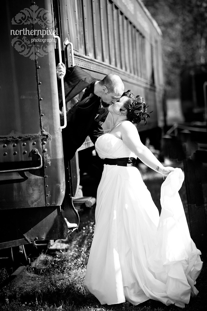 Prince George Wedding Photography Train Classic Happy