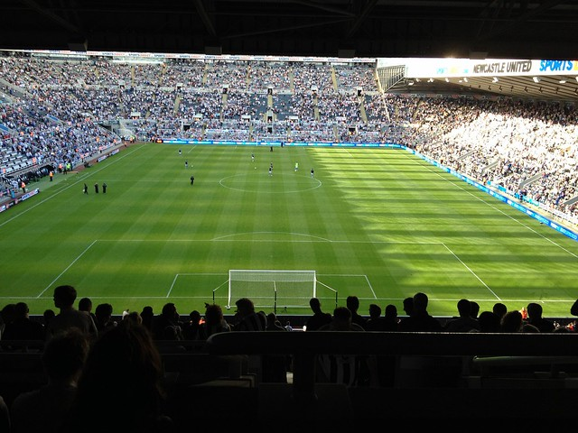 Newcastle united Aston Villa crowd st James's Park Newcastle upon Tyne 2nd September 2012 16:51.26pm