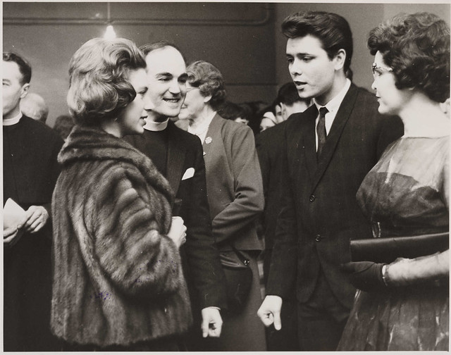 Princess Margaret meets Cliff Richard at the 59 Club, 1962.